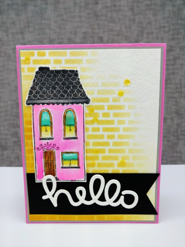 8-17-014 Pink House Hello