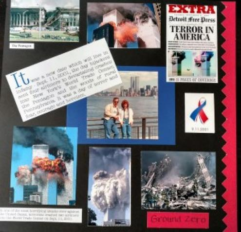 9-11 Scrapbook Page
